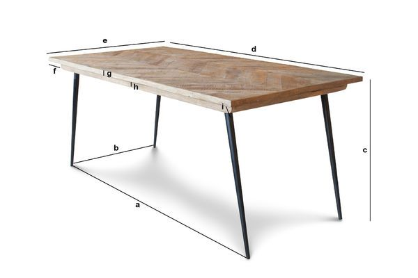 Product Dimensions Tongeren table