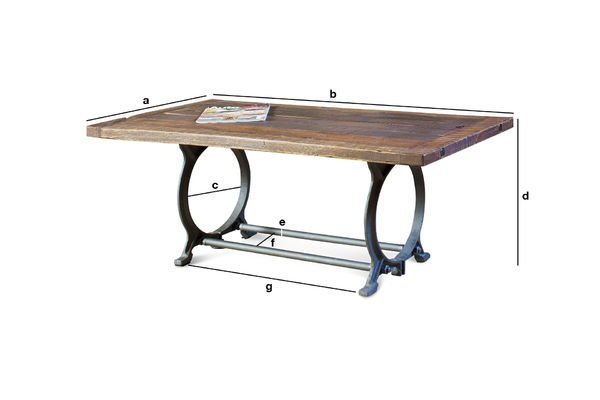 Product Dimensions Tonnel coffee table