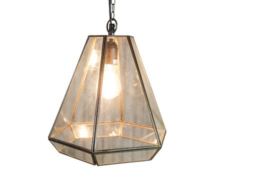 Trapèze Glass Pendant Light Clipped