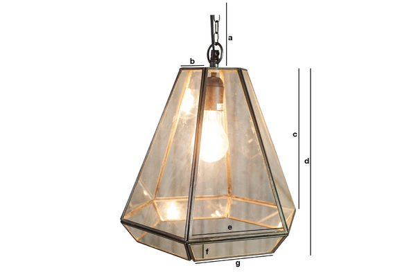 Product Dimensions Trapèze Glass Pendant Light