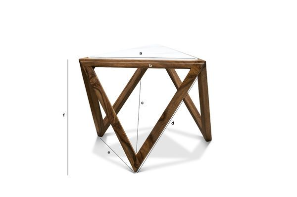 Product Dimensions Triangular side table Marmori