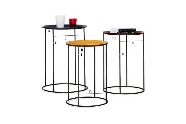 Product Dimensions Tricolor Gigogne table