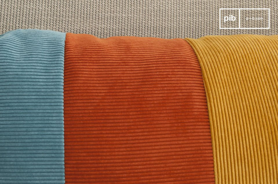 Softness of corduroy in retro colors
