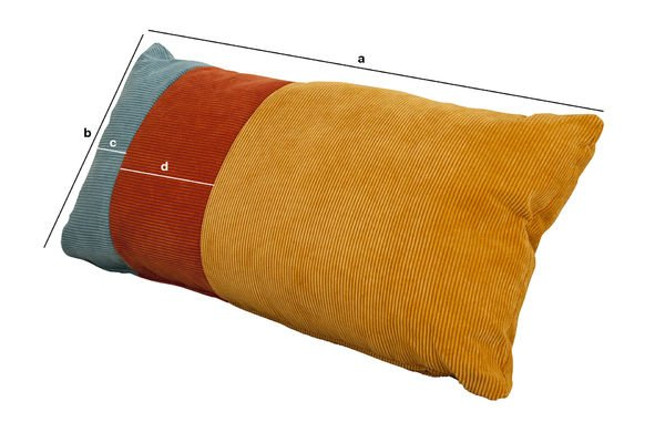 Product Dimensions Tricolor Mathis cushion