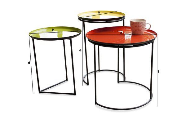 Product Dimensions Tricolour Kirk nesting table