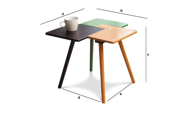 Product Dimensions Tridy side table
