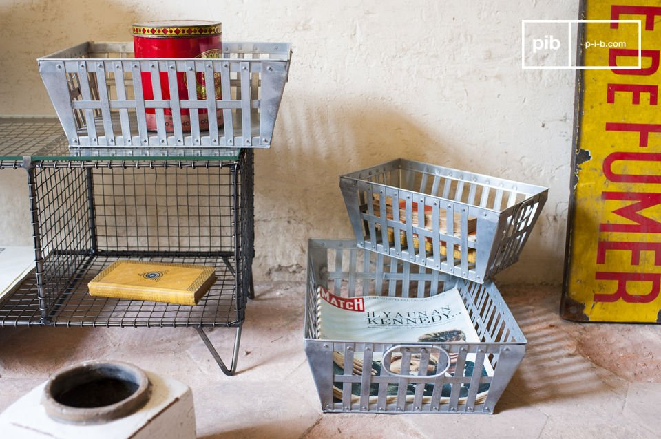 These triple pack metal baskets will be perfect, both for storing and for transporting