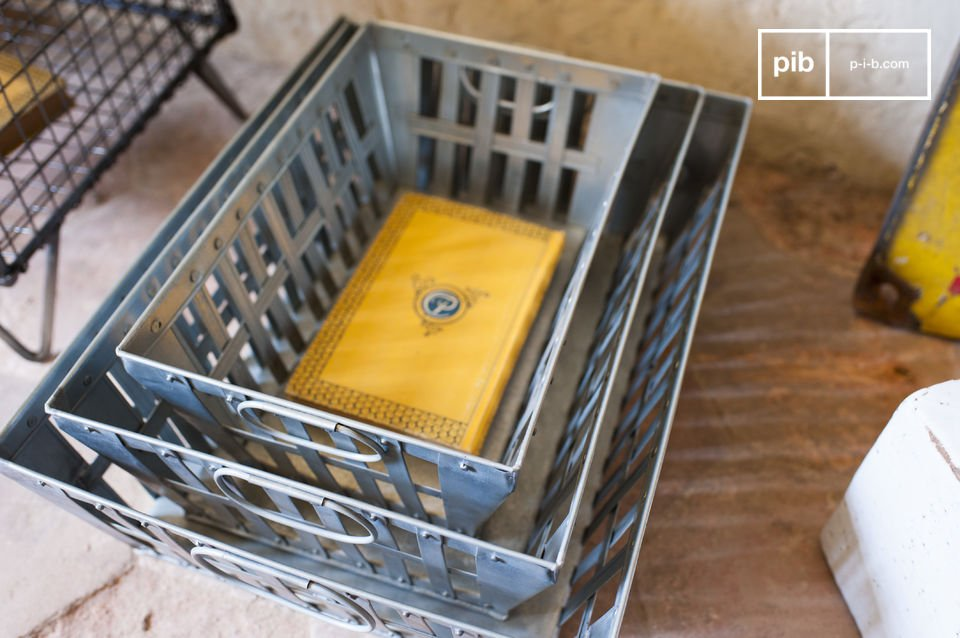 These triple pack metal baskets offer many storage spaces and