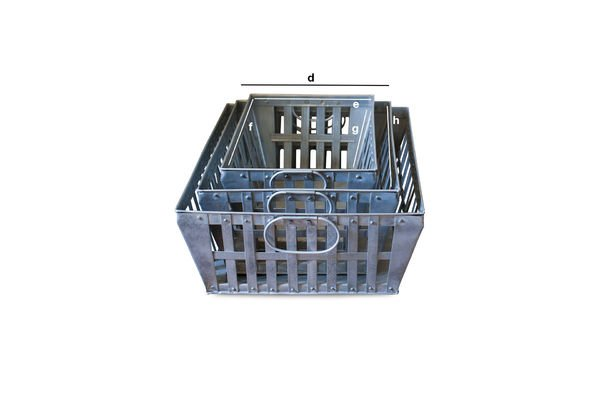 Product Dimensions Triple pack metal baskets