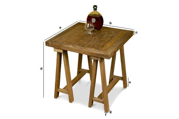 Product Dimensions Tripod sofa end table