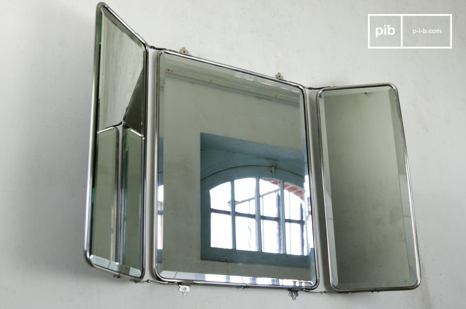 Triptych-style wall mirror