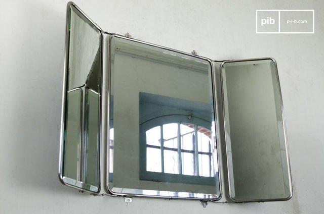 Triptych-style wall mirror