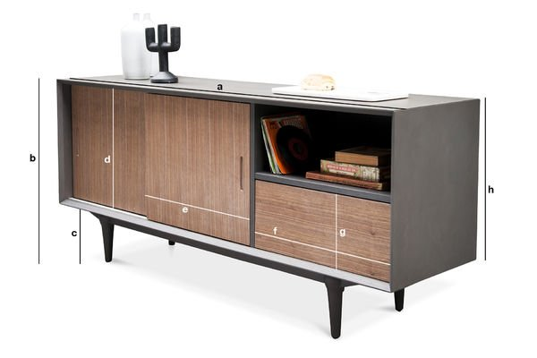 Product Dimensions Tumma Fjord Sideboard