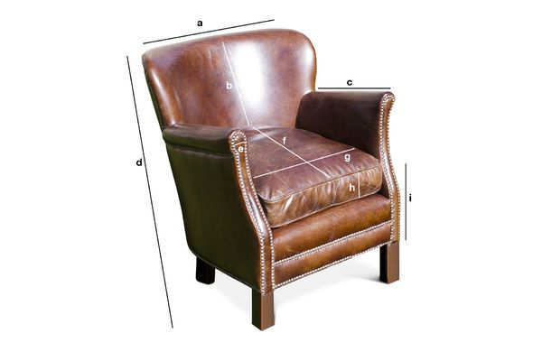 Product Dimensions Turner leather armchair