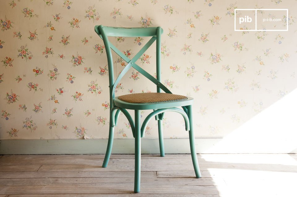 Choose this distressed beechwood chair for a touch of retro charm close to your table