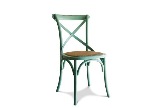 Turquoise chair Pampelune Clipped