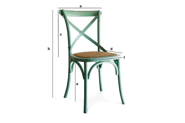 Product Dimensions Turquoise chair Pampelune