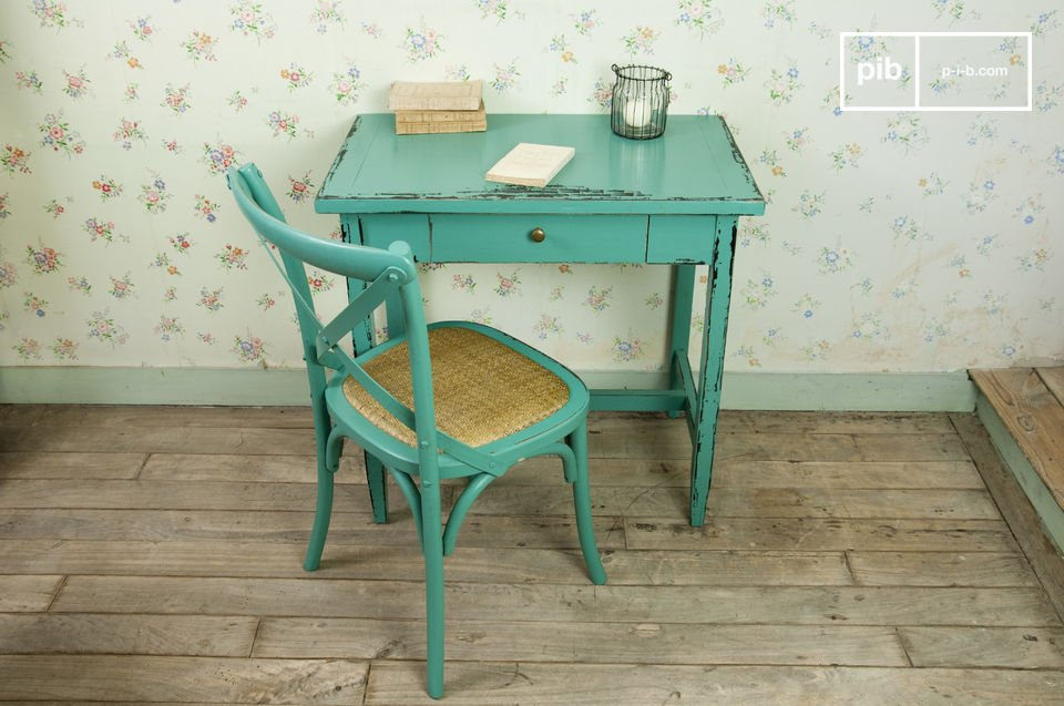 Study or occasional table, distressed retro flair