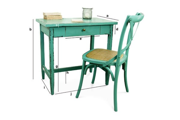 Product Dimensions Turquoise Lilac table