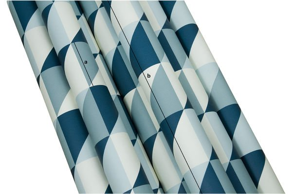 Product Dimensions Turquoise Skive wallpaper