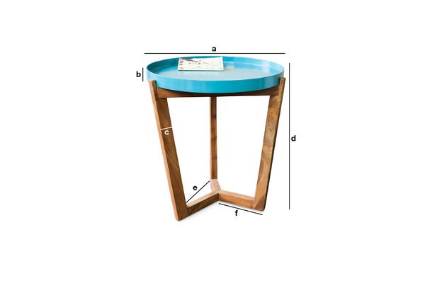 Product Dimensions Turquoise Stockholm Table