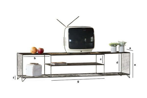 Product Dimensions TV console Ontario
