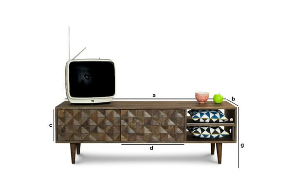 Product Dimensions TV stand Balkis