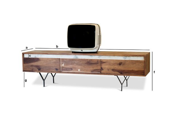 Product Dimensions TV stand Mabillon