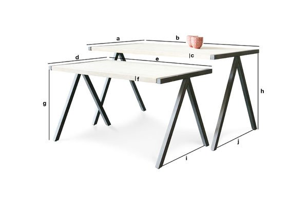 Product Dimensions Two-part Arlanda coffee table
