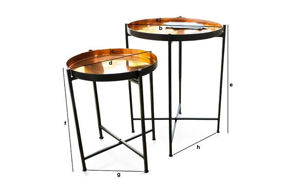 Product Dimensions Two-piece Lloyd table