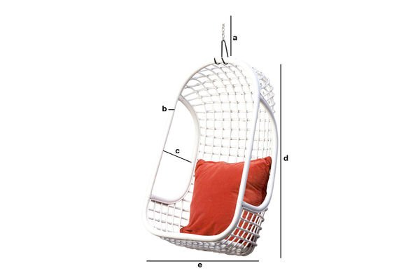 Product Dimensions Valkönen hanging chair