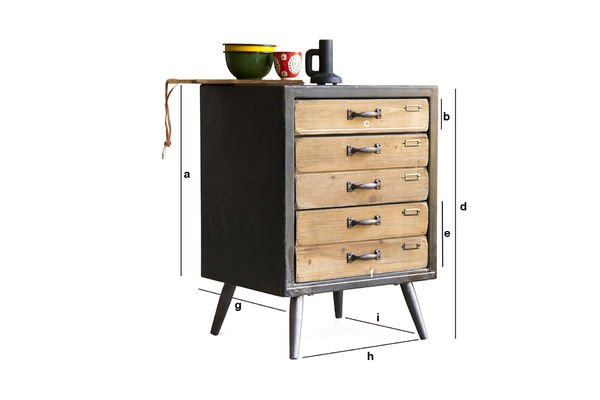 Product Dimensions Van Ness chest of drawers