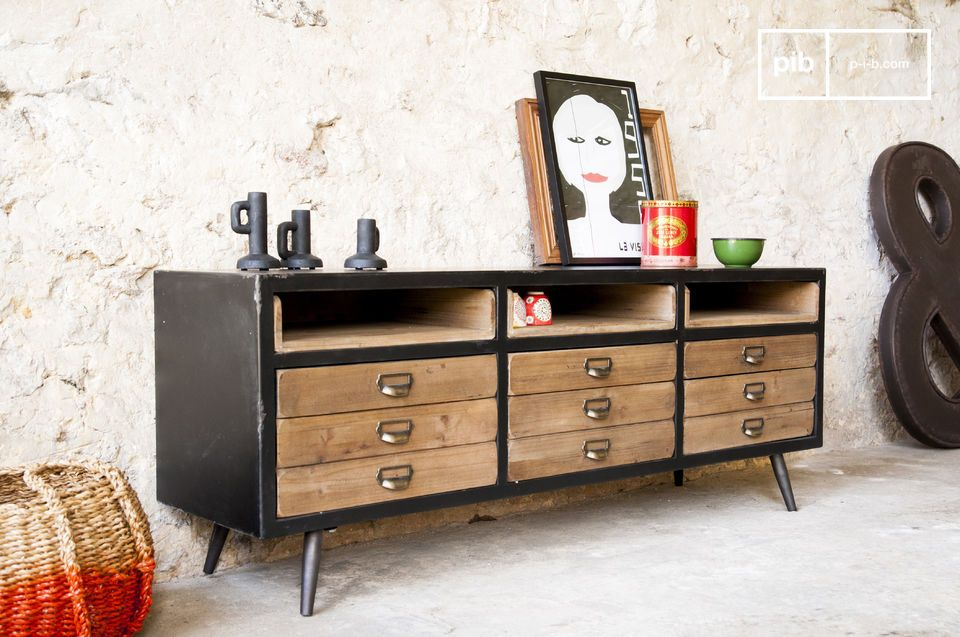 A sideboard with charming retro design