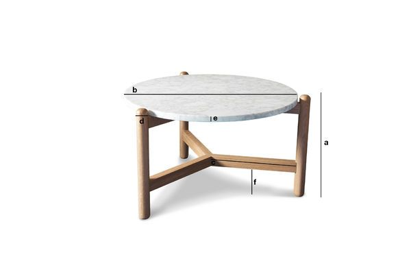 Product Dimensions Västra marble coffee table