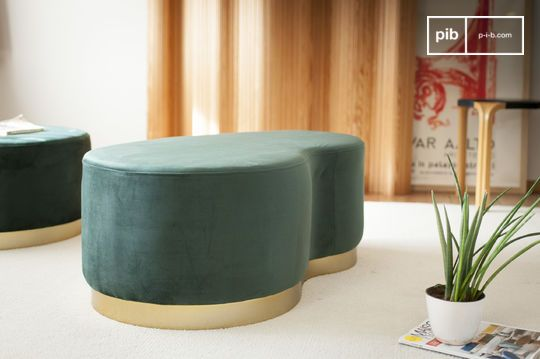 Velvet Bean two-seater pouf