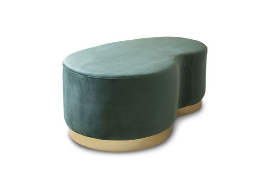 Velvet Bean two-seater pouf Clipped
