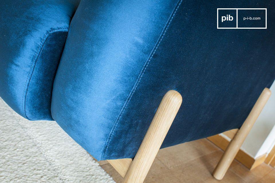 If you like retro Scandinavian living rooms and fabric sofas