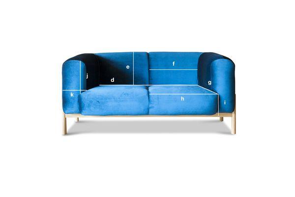 Product Dimensions Velvet sofa Viela