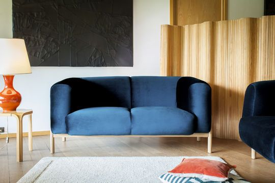 Velvet sofa Viela