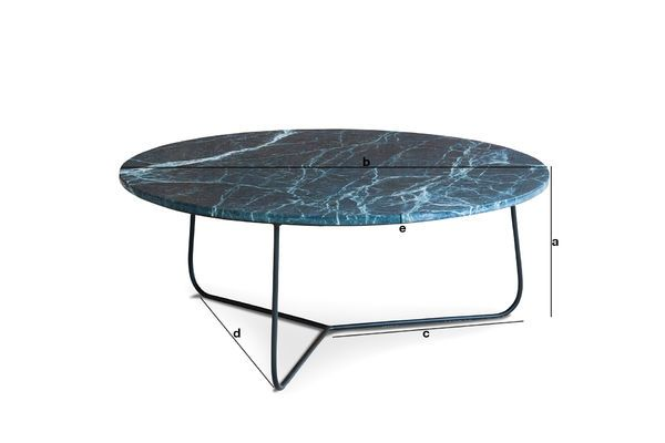 Product Dimensions Vertü marble coffee table