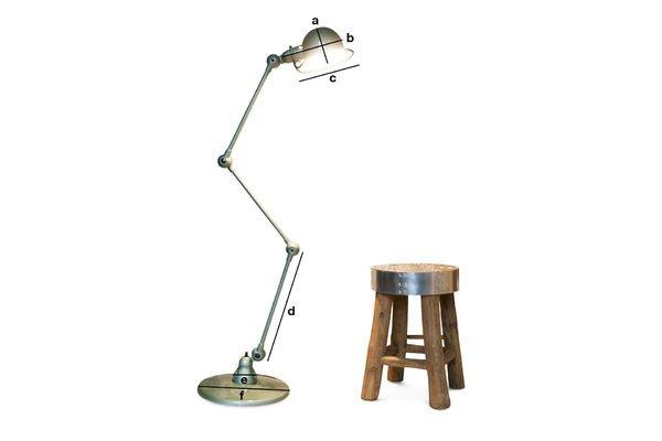 Product Dimensions Vespa green standard Jieldé loft lamp
