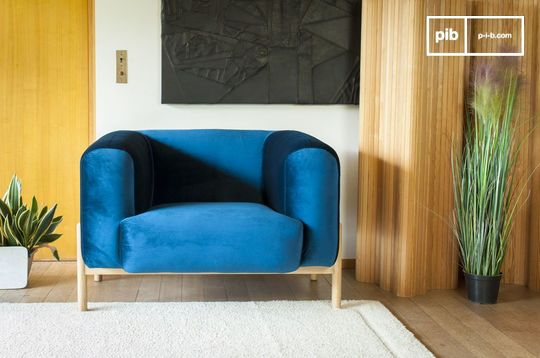 Viela Velvet Armchair