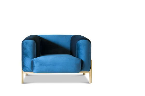 Viela Velvet Armchair Clipped