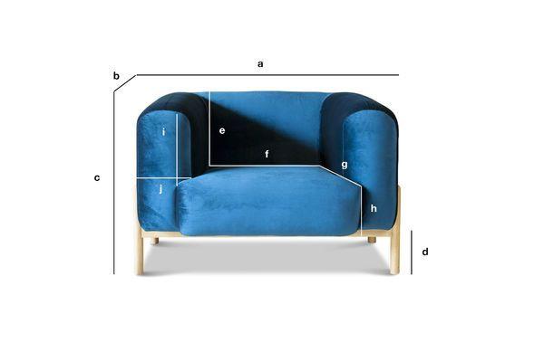 Product Dimensions Viela Velvet Armchair