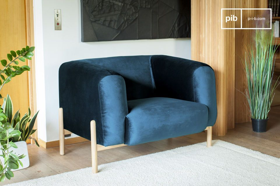 A timeless Scandinavian armchair, perfect for a touch of colour
