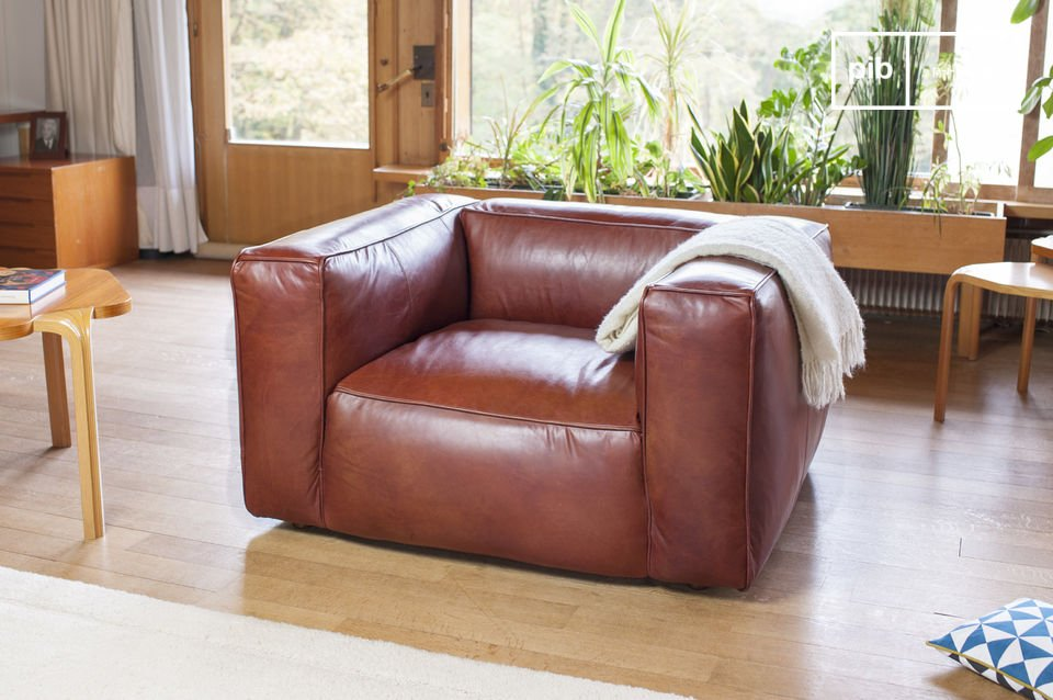 An armchair with excellent leather