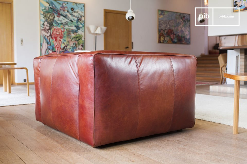 Entirely upholstered in full grain leather