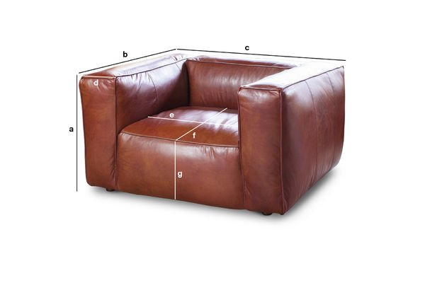 Product Dimensions Vintage armchair Krieger
