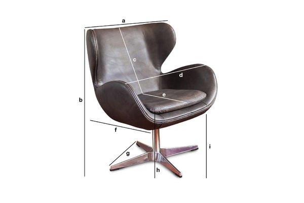 Product Dimensions Vintage armchair Orchestra