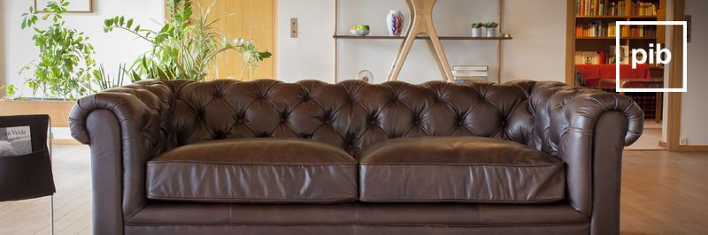 Vintage leather sofa back soon in collection